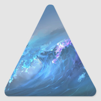 Wave Of Life Triangle Sticker