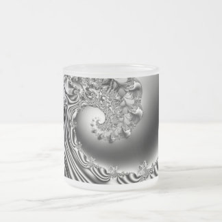 Wave of Madness Fractal  Art Frosted Glass Coffee Mug