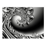 Wave of Madness Fractal  Art Post Card