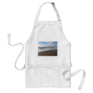 Wave of the sea on the sand beach adult apron