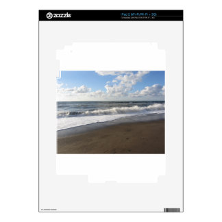 Wave of the sea on the sand beach iPad 2 decals