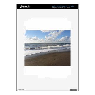 Wave of the sea on the sand beach iPad 3 decal