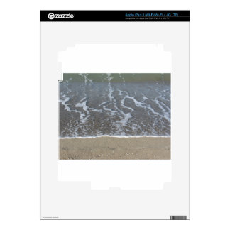 Wave of the sea on the sand beach iPad 3 decal