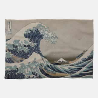 Wave off Kanagawa Vintage Art Image Kitchen Towel