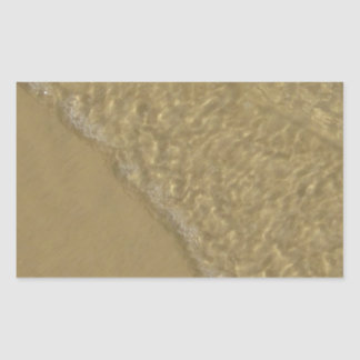 Wave on the Sand Rectangular Sticker