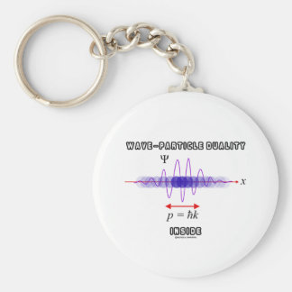 Wave-Particle Duality Inside Uncertainty Principle Basic Round Button Keychain