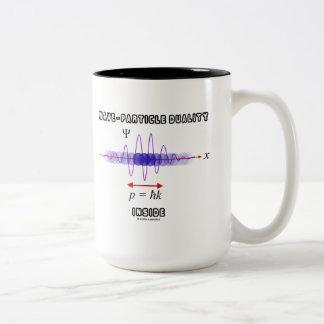 Wave-Particle Duality Inside Uncertainty Principle Two-Tone Coffee Mug