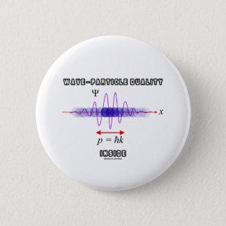 Wave-Particle Duality Inside Uncertainty Principle Pinback Button