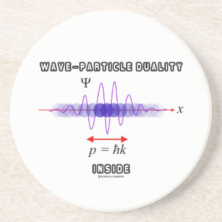 Wave-Particle Duality Inside Uncertainty Principle Sandstone Coaster