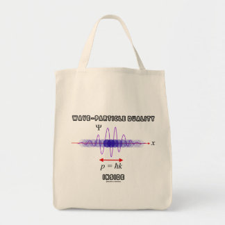 Wave-Particle Duality Inside Uncertainty Principle Tote Bag