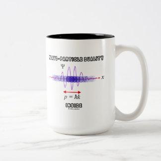 Wave-Particle Duality Inside Uncertainty Principle Two-Tone Coffee Mug