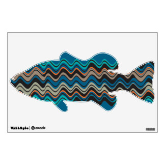Wave Pattern Bass Wall Decal
