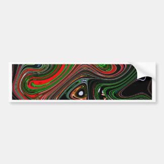 Wave pattern bumper sticker