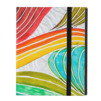 Wave Pattern Drawn By Watercolor Paints iPad Case