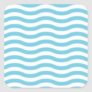 Wave pattern square sticker