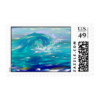 wave postage stamps