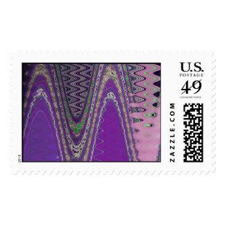 wave purple postage