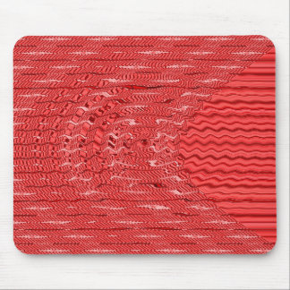 wave red mouse pad