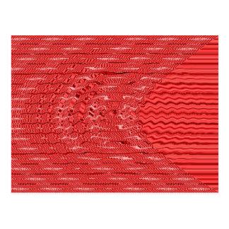 wave red postcard