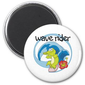 Wave Rider Fridge Magnet
