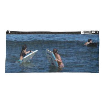 Beach Themed Wave Rider Pencil Case