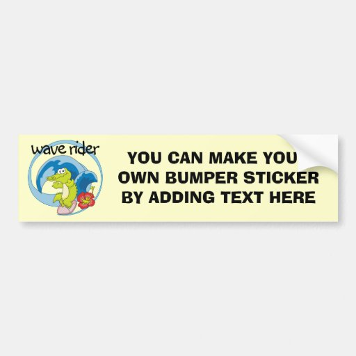 Wave Rider T shirts and Gifts Bumper Sticker