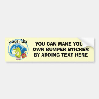 Wave Rider T shirts and Gifts Car Bumper Sticker