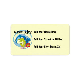 Wave Rider T shirts and Gifts Label