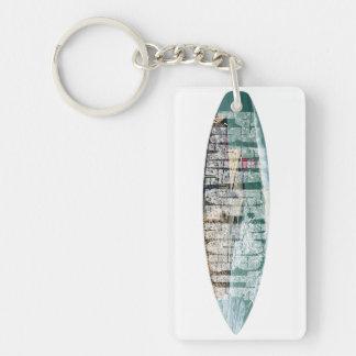 Wave riders acrylic keychain