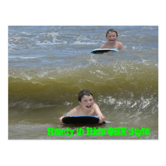 Wave Riding in the OBX OuterBanks of NC Ocean Postcard