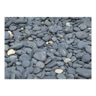 Wave-rounded stones invites