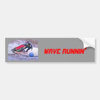 Wave Runner Around the Buoy Bumper Sticker