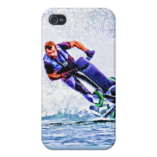 Wave Runner Spray iPhone 4 Cover