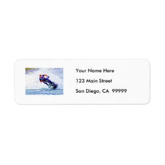 Wave Runner Spray Return Address Labels