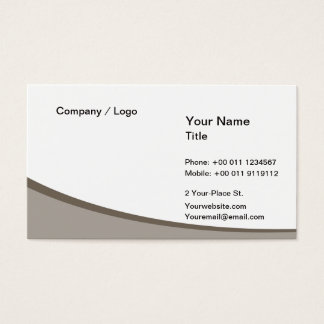 Wave simple business card (gray)
