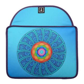 Wave Sky Rainbow Lotus Mandala Macbook Sleeve
