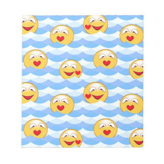 Wave smiley notepad