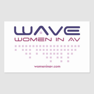 WAVE Stickers! Rectangular Sticker