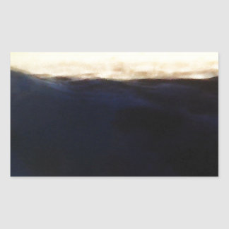 Wave & Sunset Horizon Rectangular Sticker