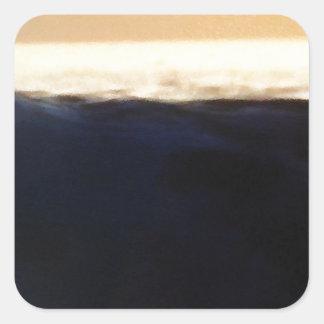 Wave & Sunset Horizon Square Sticker
