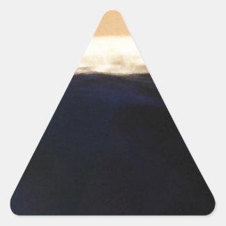 Wave & Sunset Horizon Triangle Sticker