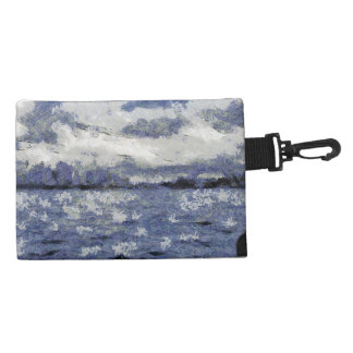 Wave swells in a cloudy day accessory bag