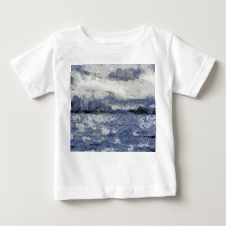 Wave swells in a cloudy day baby T-Shirt