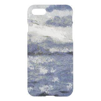 Wave swells in a cloudy day iPhone 7 case