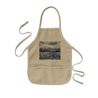 Wave swells in a cloudy day kids' apron
