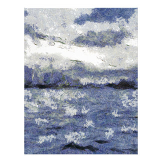 Wave swells in a cloudy day letterhead