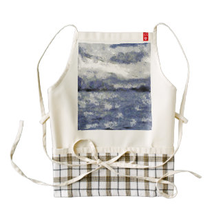 Wave swells in a cloudy day zazzle HEART apron