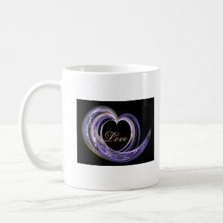 Wave Swept Love Filled Fractal Art Heart Coffee Mug