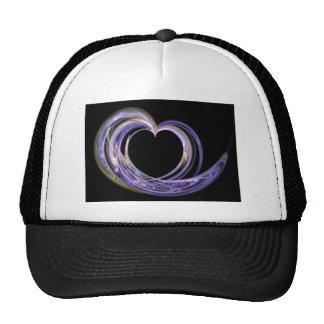 Wave Swept Love Filled Fractal Art Heart Hat