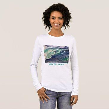 Beach Themed Wave Teeshirt Long Sleeve T-Shirt